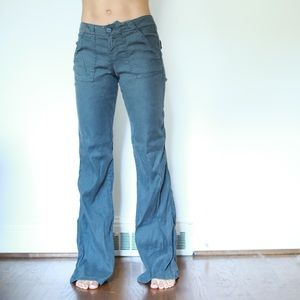 Anthropologie Linen Flare Pants